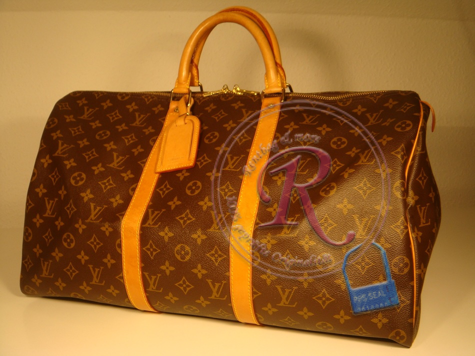 original louis vuitton keepall 50 m41426 in monogram. Black Bedroom Furniture Sets. Home Design Ideas