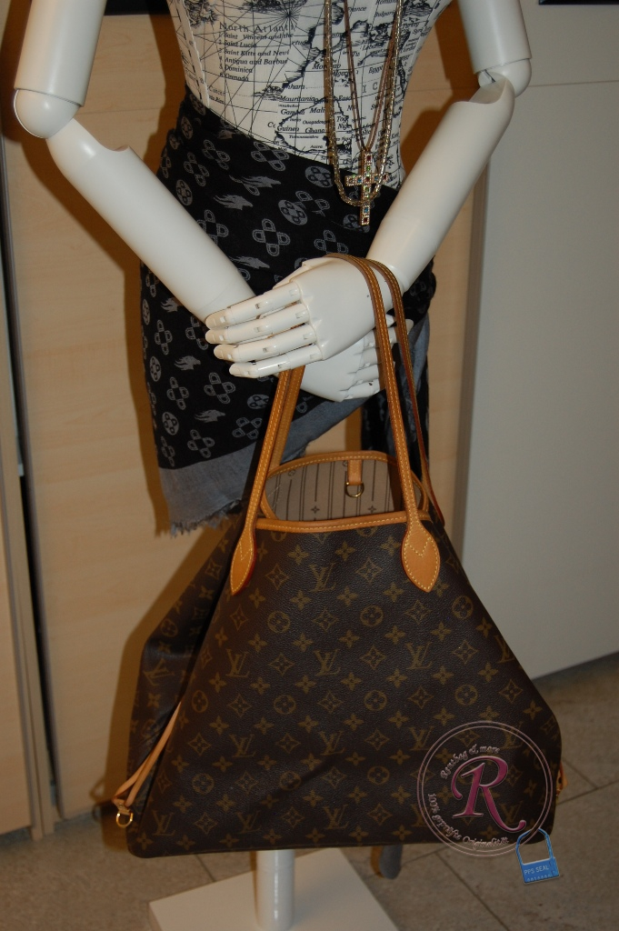 louis vuitton neverfull gm m40157 in monogram canvas die ltere ausf hrung ohne pochette. Black Bedroom Furniture Sets. Home Design Ideas